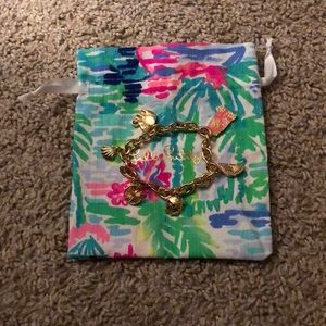 Lilly Pulitzer Charm Bracelet with Jewelry Pouch
